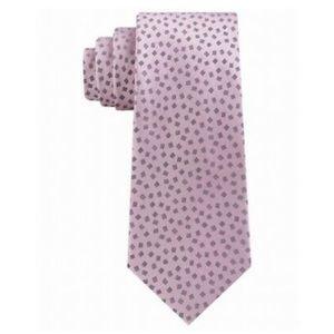 New Michael Kors Mens Pink Silk Business Neck Tie